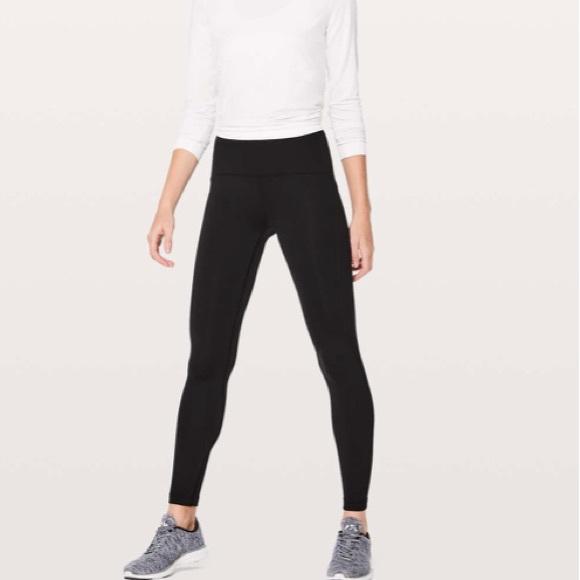 b54e76c764b25 lululemon athletica Pants | Lululemon Fast As Fleece Tights Black ...